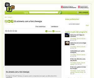 Els aliments com a font d'energia (Edu3.cat)