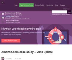 A summary of Amazon's business strategy and revenue model (Smart Insights)