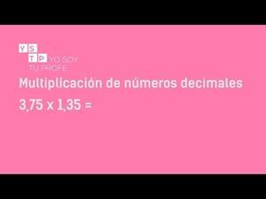 Multiplicación de números decimales #YTSP