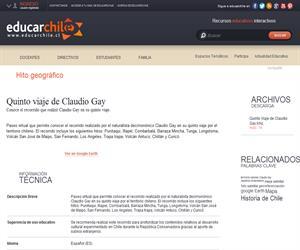 Quinto viaje de Claudio Gay (Educarchile)