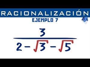 Racionalización de denominadores | Ejemplo 7 Trinomio