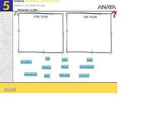 Ortografía. La tilde I. Editorial Anaya
