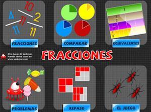 Fracciones, juega y practica (vedoque.com)