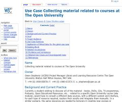 Use Case Collecting material related to courses at The Open University - Library Linked Data