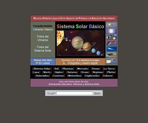 Sistema Solar Básico. Astromonía Educativa