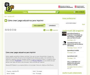 Cómo crear juegos educativos para imprimir  (Edu3.cat)