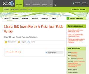 Charla TED Joven Rio de la Plata. Juan Pablo Varsky.