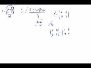 Matriz simétrica e incógnitas
