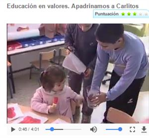 Educación en valores. Apadrinamos a Carlitos