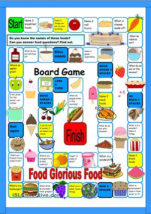 Food Board Game (iSLCollective)