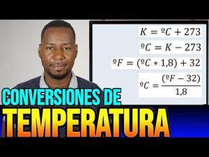 Conversiones de temperatura