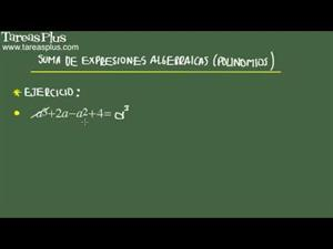 Suma de expresiones algebraicas problema 7 de 15 (Tareas Plus)