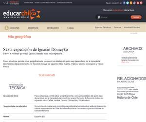 Sexta expedición de Ignacio Domeyko (Educarchile)
