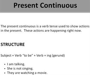 Present continuous. Grammar and practice (learnenglish-online.com)