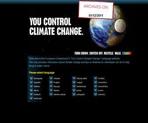 Tú controlas el cambio climático, campaña de la Comisión Europea