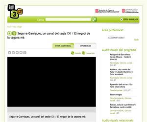 Segarra-Garrigues, un canal del segle XXI / El negoci de la segona mà (Edu3.cat)