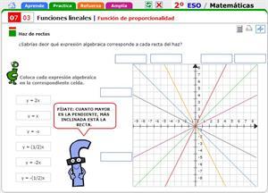 Función de proporcionalidad. Matemáticas para 2º de Secuncaria