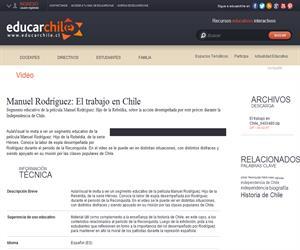 Manuel Rodríguez: El trabajo en Chile (Educarchile)