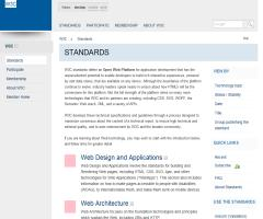 W3C Standards (section of w3.org)