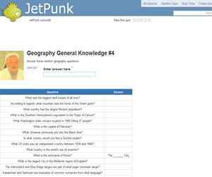 Geography General Knowledge 4