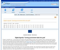 EUROPA - Press Releases - Digital Agenda: Turning government data into gold