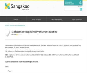 Sistema sexagesimal y sus operaciones