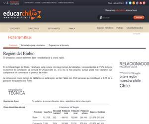 8va Región Estadísticas (Educarchile)