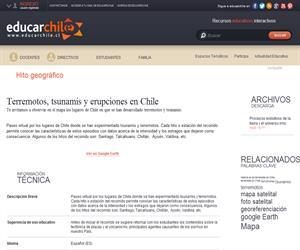Terremotos, tsunamis y erupciones en Chile (Educarchile)