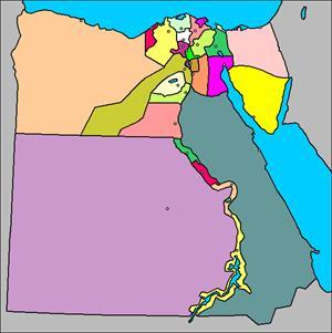 Mapa interactivo de Egipto: gobernaciones y capitales (luventicus.org)