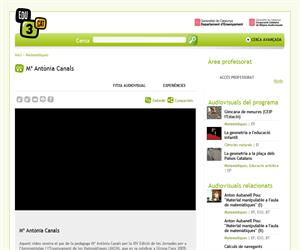 Mª Antònia Canals (Edu3.cat)