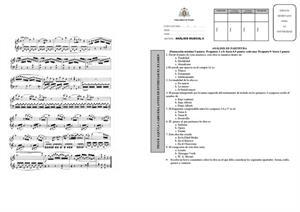 Examen de Selectividad: Análisis musical. Asturias. Convocatoria Julio 2013