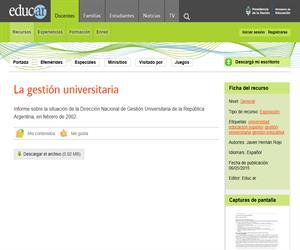 La Gestión Universitaria