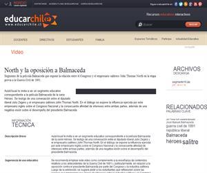 North y la oposición a Balmaceda (Educarchile)