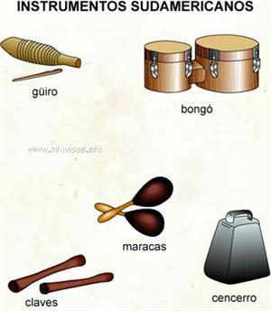 Instrumentos sudamericanos (Diccionario visual)