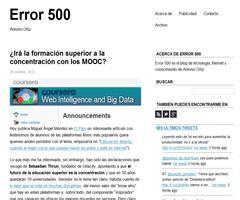 ¿Irá la formación superior a la concentración con los MOOC? | Error 500