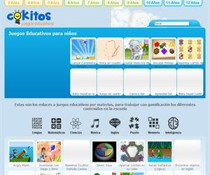 Web con Juegos Educativos para niños y niñas de Primaria