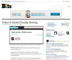 Twitter Is Hacked Tuesday Morning (The New York Times)
