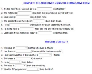 Comparative and Superlative 1