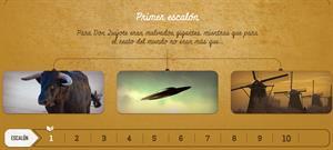Cervantes: 10 escalones (juego interactivo)