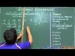 División de polinomios por coeficientes separados (problema resuelto)