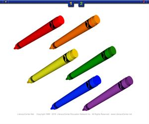 Escribe en francés los colores y las formas. Literacy Center Education