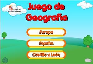 Juegos de geografía. Paisajes de Europa, España y Castilla y León