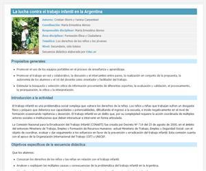 La lucha contra el trabajo infantil en la Argentina