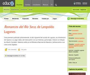 Leopoldo Lugones: Romances de Río Seco