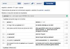 Diccionario en línea español / alemán de Pons