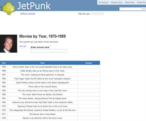 Movies by Year, 1970-1989