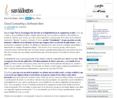 Cloud Computing y Software libre | Savialogos. Juan Urrutia