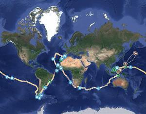 Ruta interactiva de la Primera Vuelta al Mundo. Ruta Elcano.
