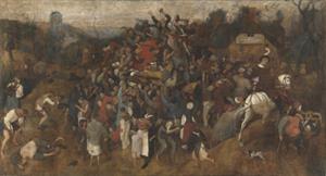 """Puzzle interactivo de """"El vino en la fiesta de San Martín"""" (Brueghel el Viejo). Museo del Prado"""