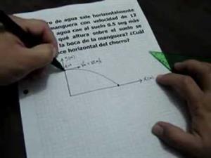 Problema de Movimiento Semiparabólico o Tiro Horizontal (JulioProfe)